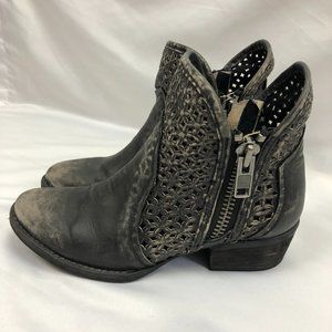 CORRAL CIRCLE G DISTRESSED Grey Cowgirl Boot 7.5